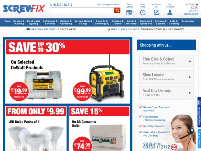Coupons for ScrewFix
