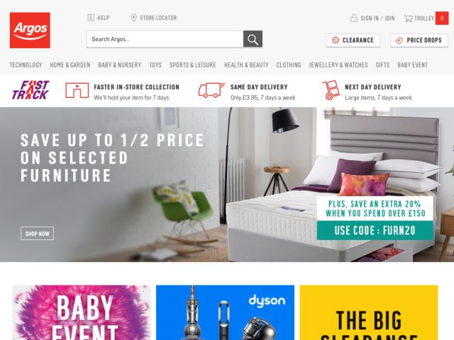 Coupons for Argos