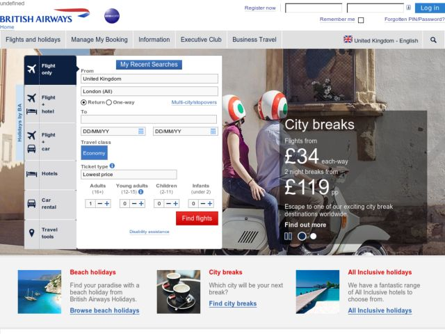 Coupons for British Airways