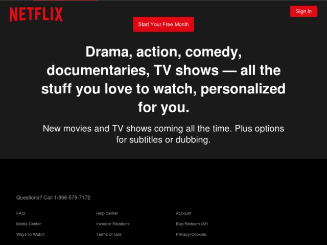 Coupons for Netflix