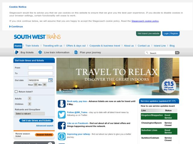 Coupons for South West Trains