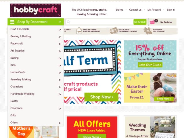 Coupons for Hobbycraft