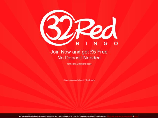 Coupons for 32Red Bingo
