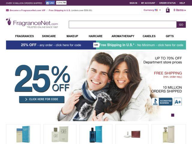 Coupons for FragranceNet.com