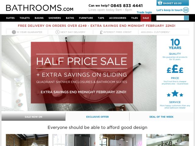 Coupons for Bathrooms.com