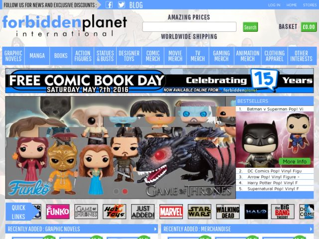 Coupons for Forbidden Planet