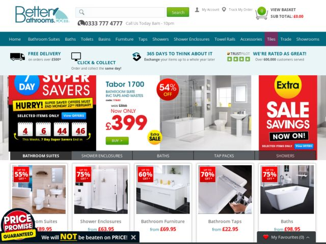 Better Bathrooms Promotional Codes Amp Vouchers 4 Available