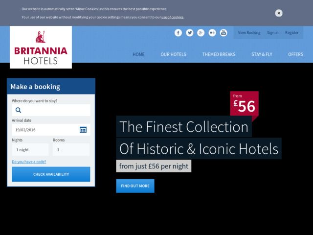 Coupons for Britannia Hotels