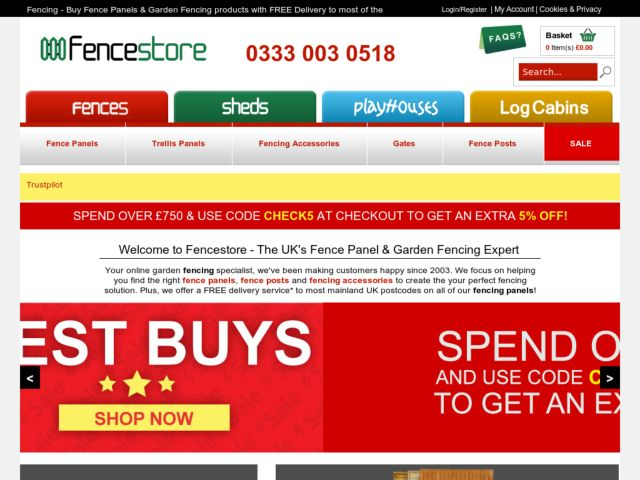 Coupons for Fencestore