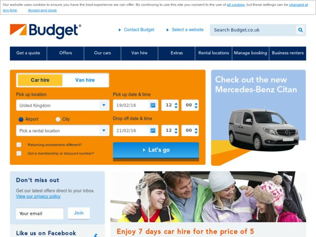 Car rental discount coupons budget