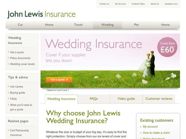 John Lewis Wedding Insurance Promo Code