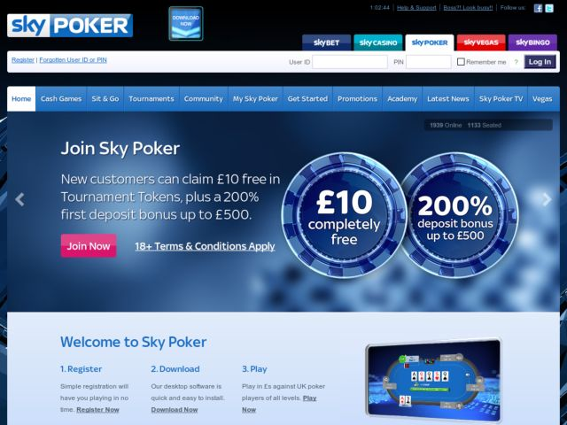 Coupons for Sky Poker