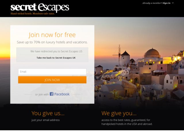 Coupons for Secret Escapes