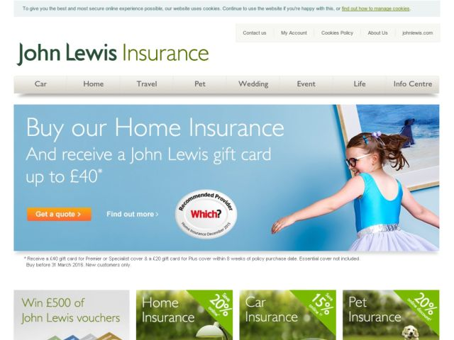 Coupons for John Lewis Home Insurance