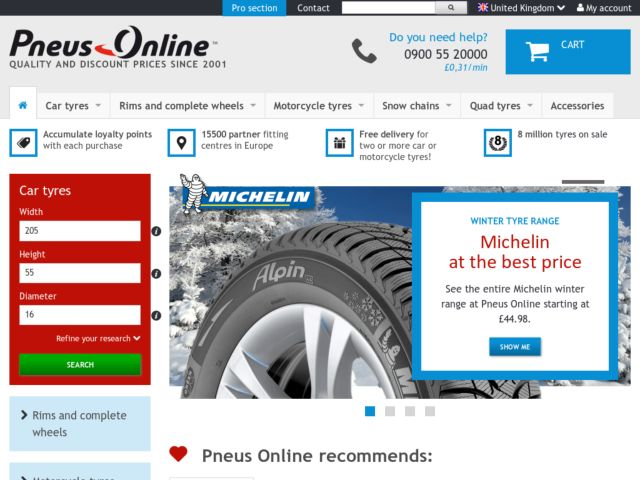 Coupons for Pneus Online