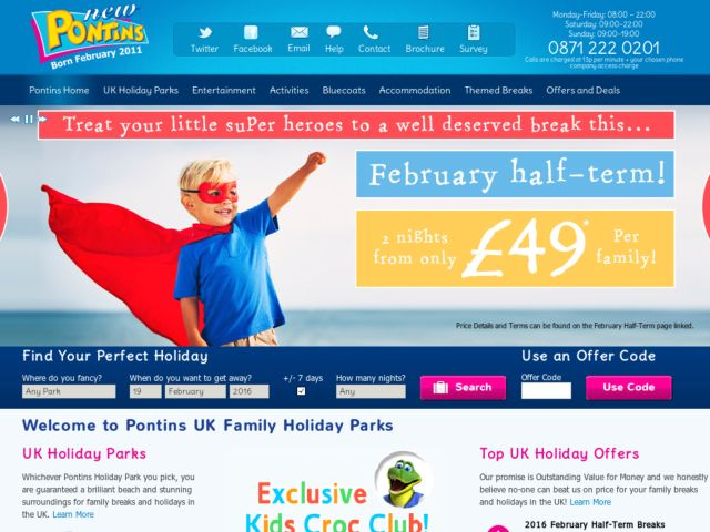 Coupons for Pontins