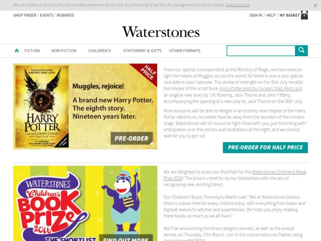 Coupons for Waterstones
