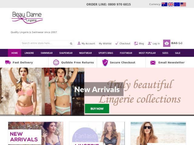 Coupons for Beau Dame Lingerie