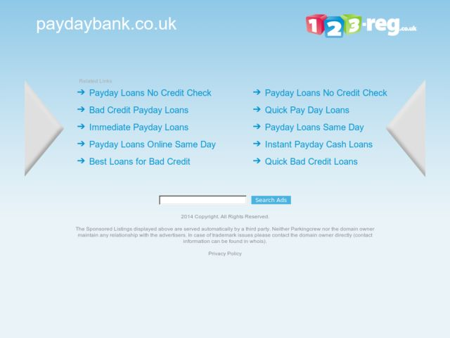 Coupons for Payday Bank