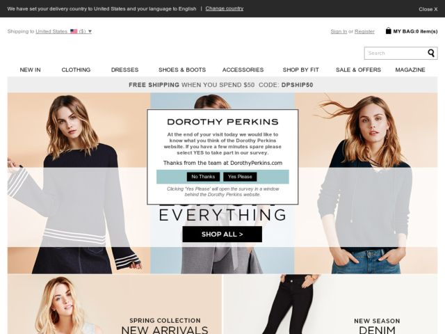 Coupons for Dorothy Perkins