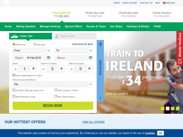Coupons for Irish Ferries