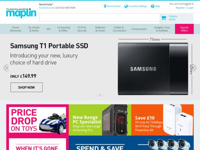 Coupons for Maplin
