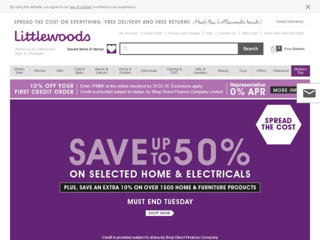 Coupons for Littlewoods
