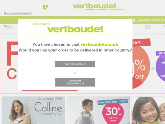 Vertbaudet order codes vouchers 6 available - Code promo livraison gratuite vertbaudet ...