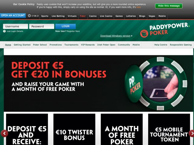 Coupons for Paddy Power Poker