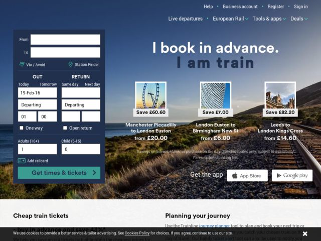 Coupons for TheTrainLine