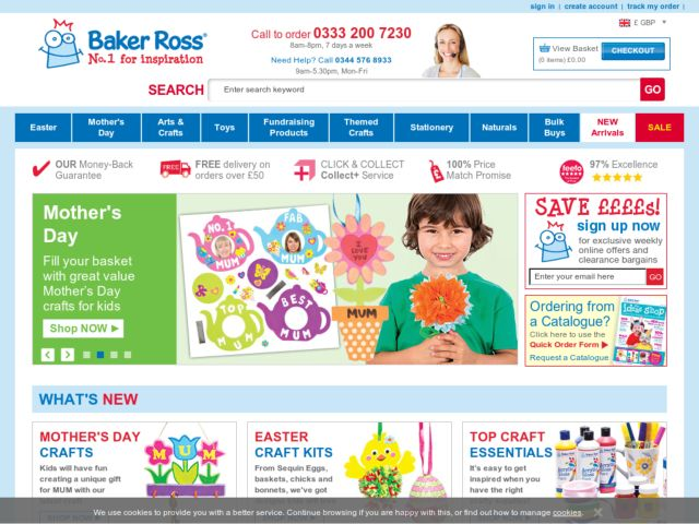 Coupons for Baker Ross
