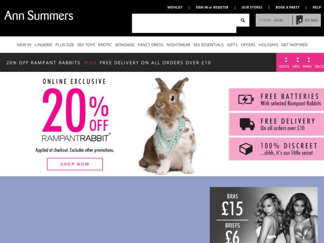 Coupons for Ann Summers
