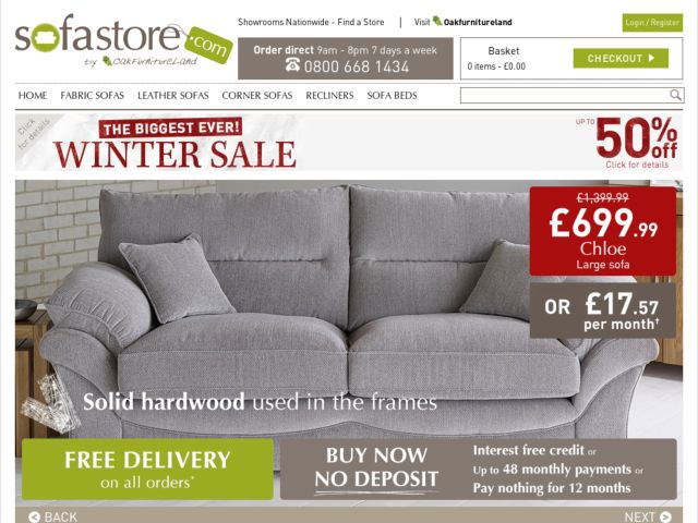 Coupons for Sofa Store