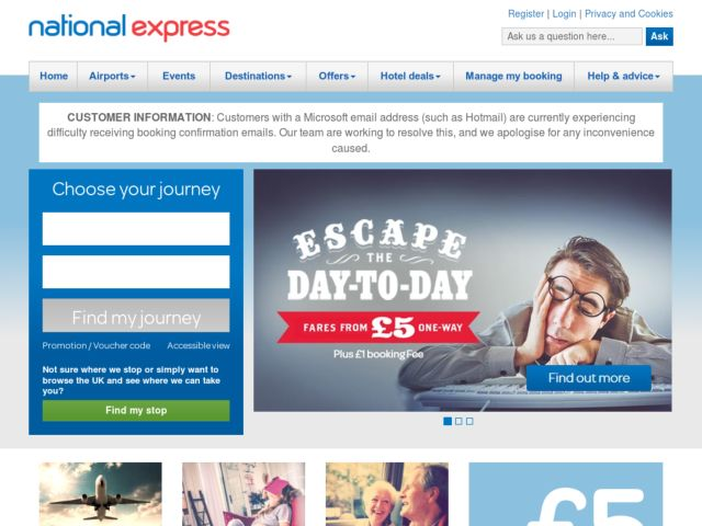 Coupons for National Express