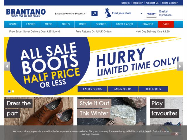 Coupons for Brantano