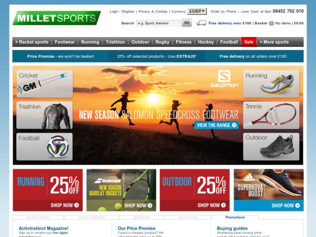 Coupons for Millet Sports