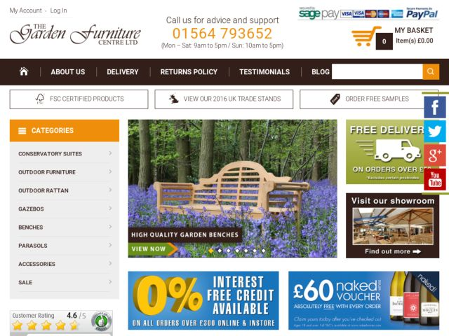 Coupons for The Garden Furniture Centre
