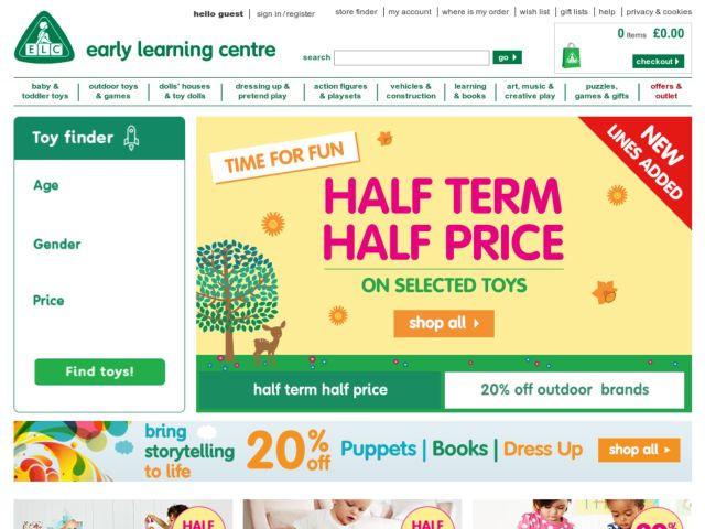 New codes for Early Learning Centre