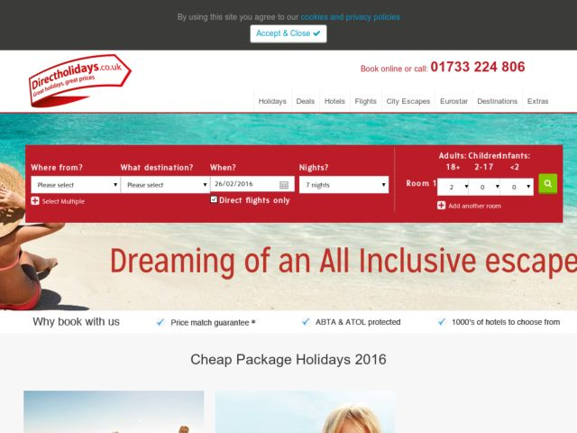 Coupons for Direct Holidays