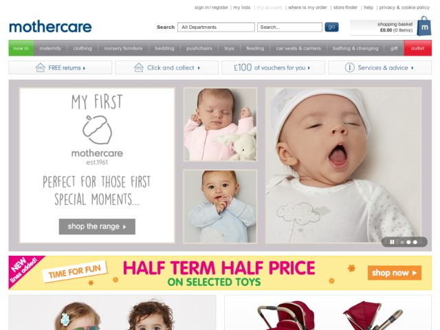 Coupons for Mothercare