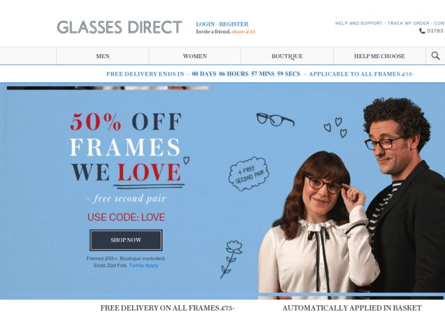 Coupons for Glasses Direct
