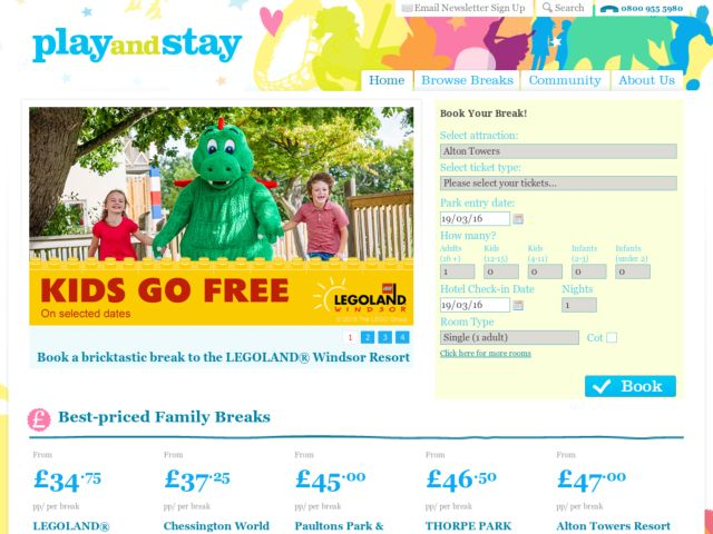 Coupons for Play-and-Stay