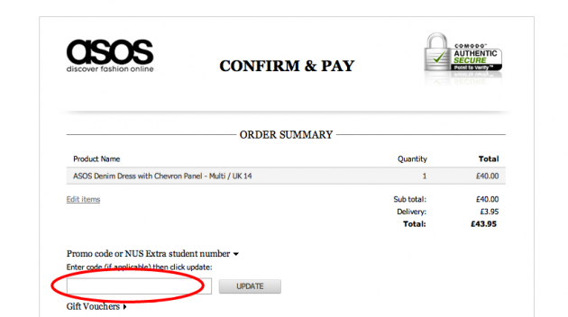 Asos discount coupon
