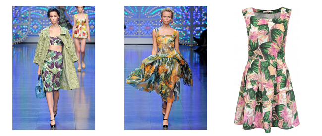Catwalk Chic on the Cheap: Vegetable Print