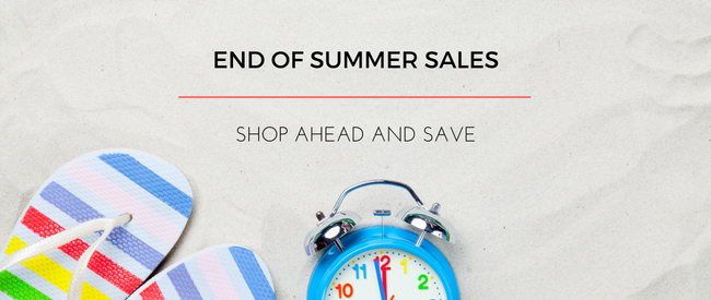 End of Summer Sales: Shop Ahead and Save