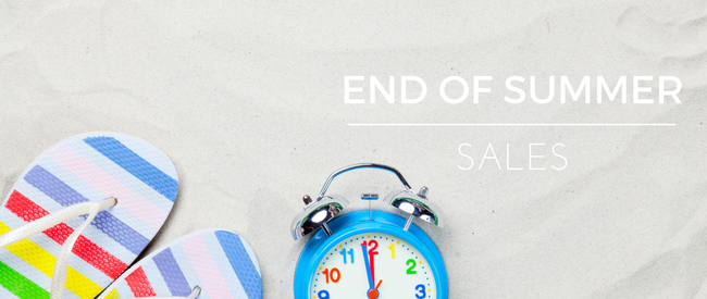 Save in the End of Summer Sales