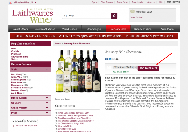 At Laithwaites Wine, you will find a wide variety of the finest wines from different countries and wine growing regions. Browse through the website and shop for different wine types and varietals such as Cabernet Sauvignon, Pinot Noir, Sangiovese, Malbec, Sauvignon Blanc and Chardonnay.
