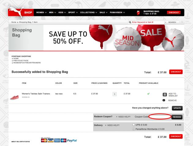 puma newsletter discount