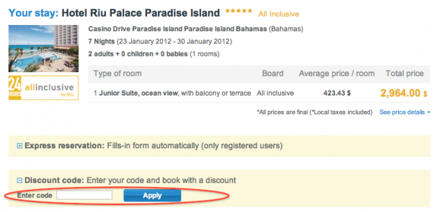 Click View Code Open Site Then Copy The And Head Back To Your Booking At Riu Paste In Box Ly Wait For