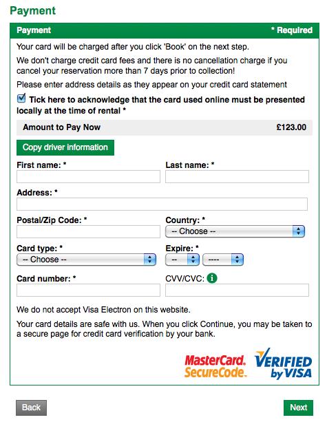 National car rental coupon code